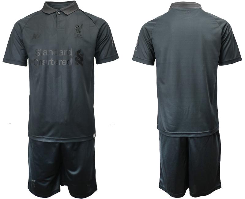 2018-19 Liverpool Black Goalkeeper Soccer Jersey