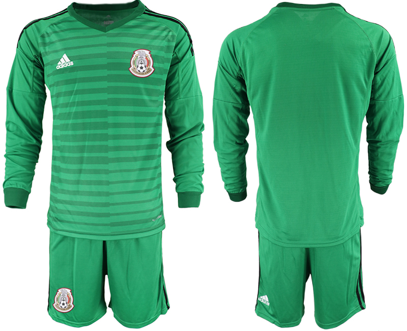 Mexico Green 2018 FIFA World Cup Long Sleeve Goalkeeper Soccer Jersey