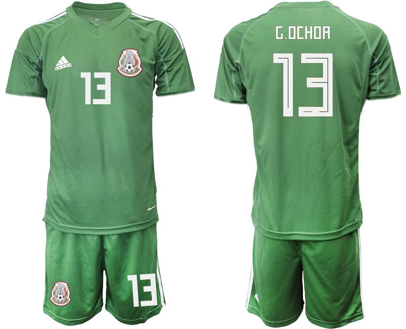 Mexico 13 G.OCHOA Army Green Goalkeeper Soccer Jersey