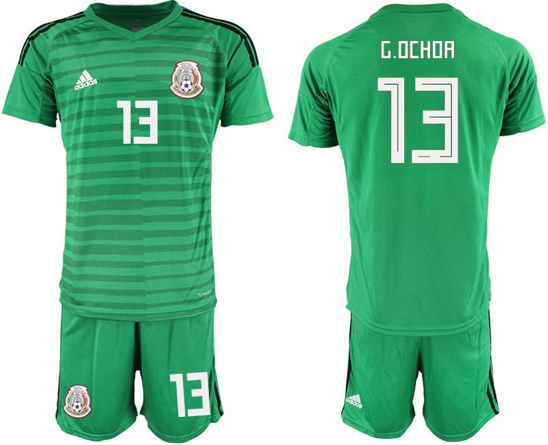 Mexico 13 G.OCHOA Green Goalkeeper Soccer Jersey