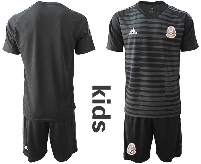 Mexico Black Youth 2018 FIFA World Cup Goalkeeper Soccer Jersey