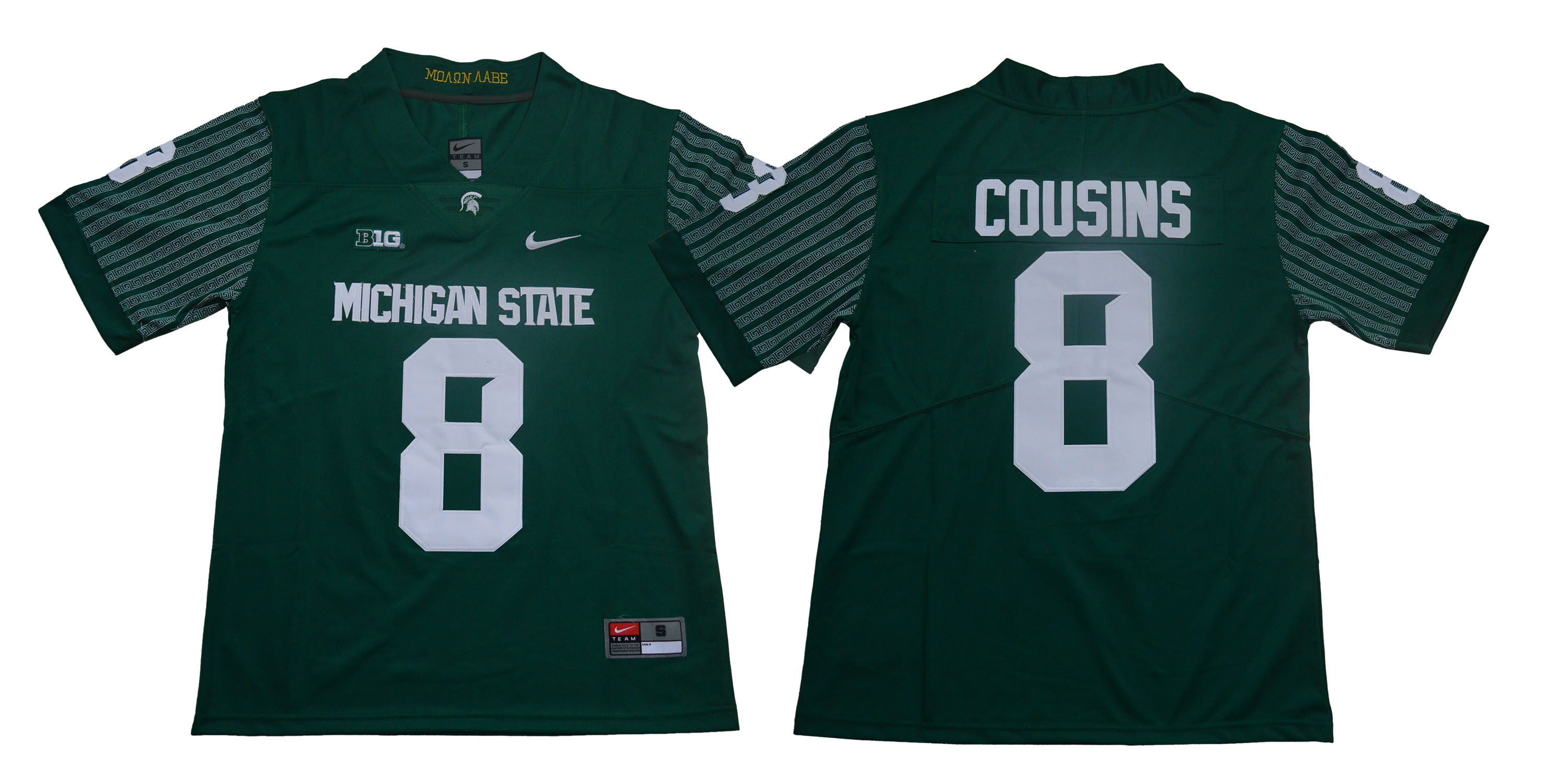 Michigan State Spartans 8 Kirk Cousins Green Nike College Football Jersey