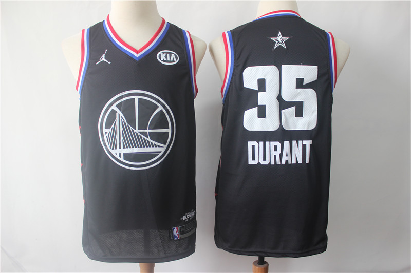Warriors 35 Kevin Durant Black 2019 NBA All-Star Game Jordan Brand Swingman Jersey