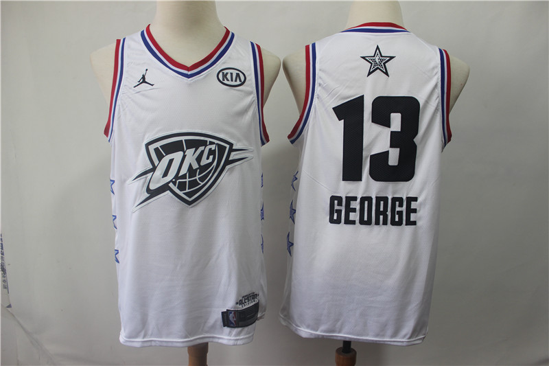Thunder 13 Paul George White 2019 NBA All-Star Game Jordan Brand Swingman Jersey