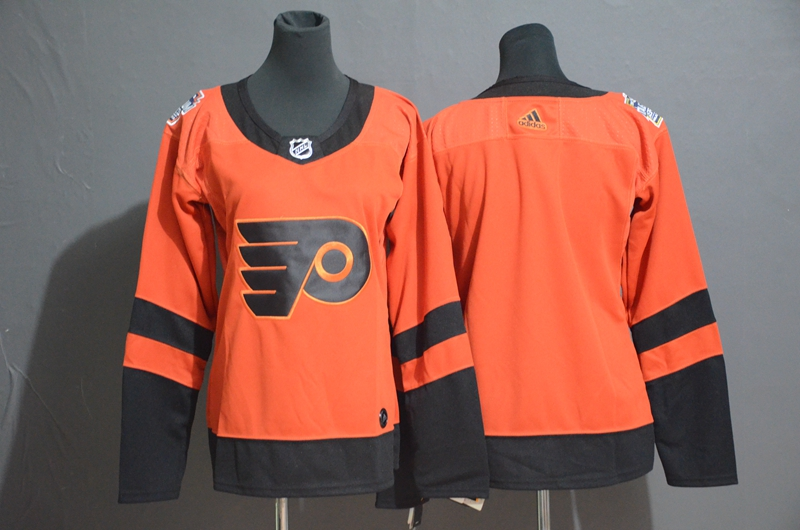 Flyers Blank Orange Women 2019 NHL Stadium Series Adidas Jersey