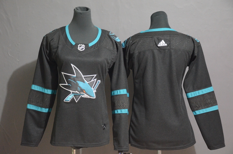 Sharks Blank Black Women Adidas Jersey