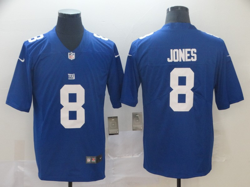 Nike Giants 8 Daniel Jones Royal 2019 NFL Draft First Round Pick Vapor Untouchable Limited Jersey