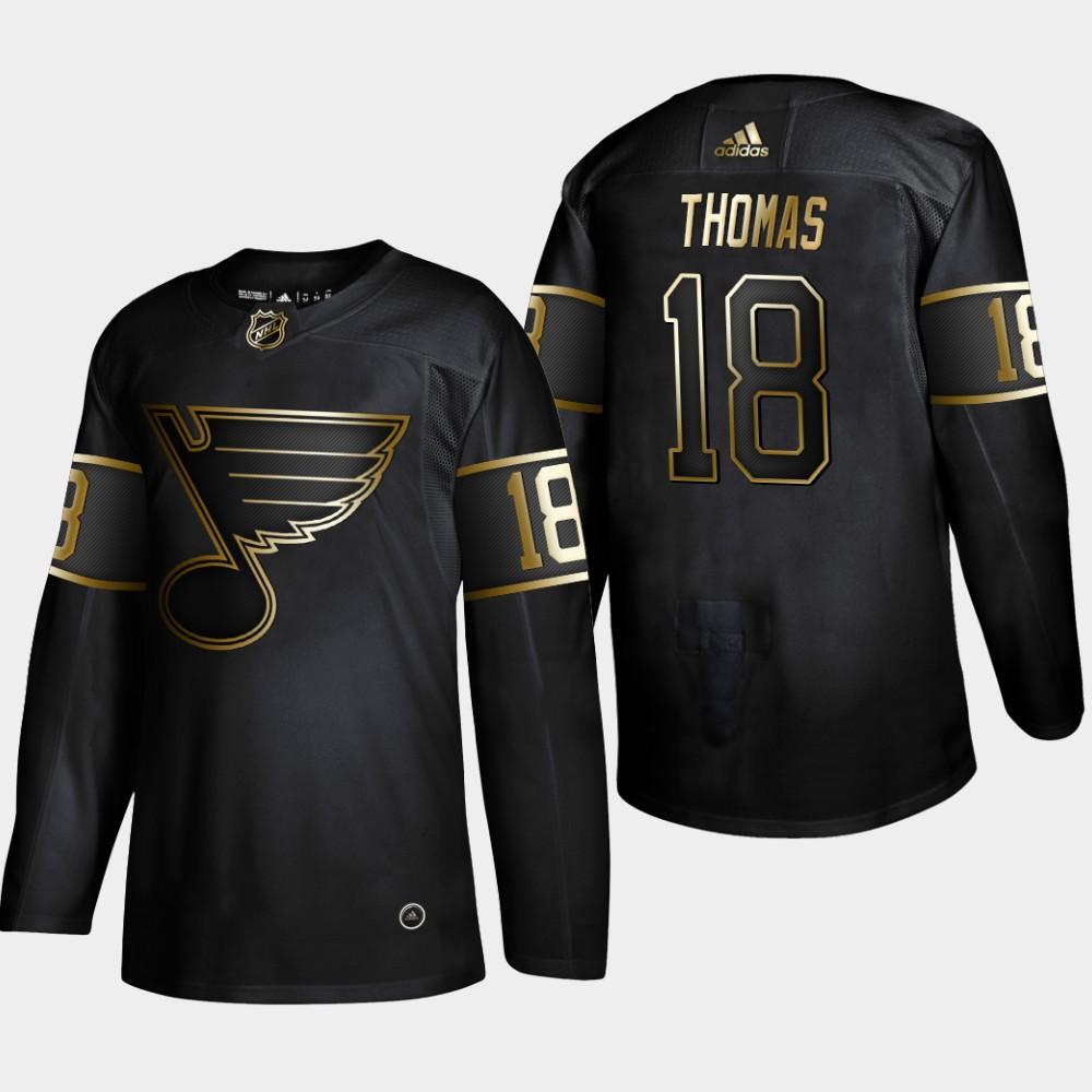 Blues 18 Robert Thomas Black Gold Adidas Jersey