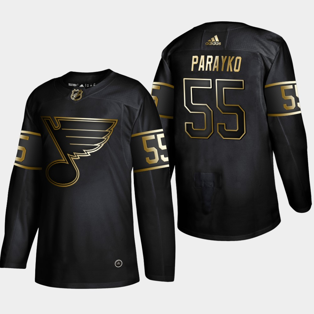 Blues 55 Colton Parayko Black Gold Adidas Jersey