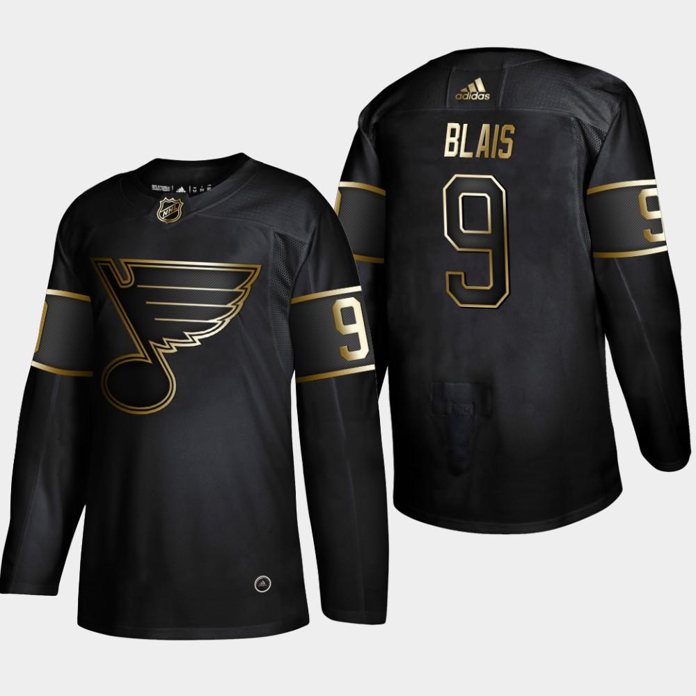 Blues 9 Sammy Blais Black Gold Adidas Jersey