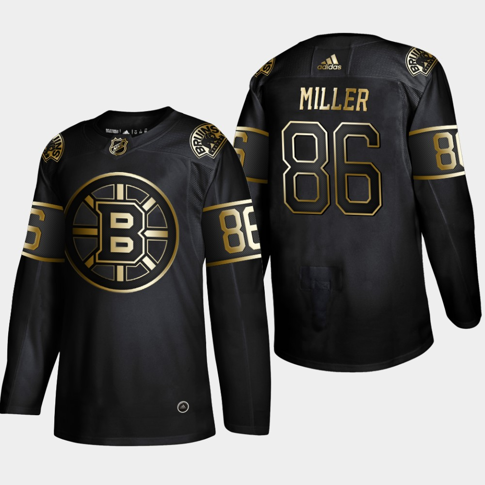 Bruins 86 Kevan Miller Black Gold Adidas Jersey