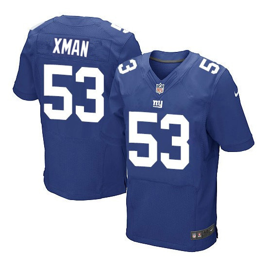 Nike Giants 53 Xman Royal Elite Jersey