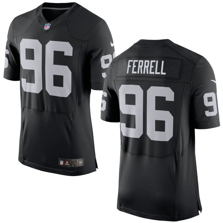 Nike Raiders 96 Clelin Ferrell Black Elite Jersey