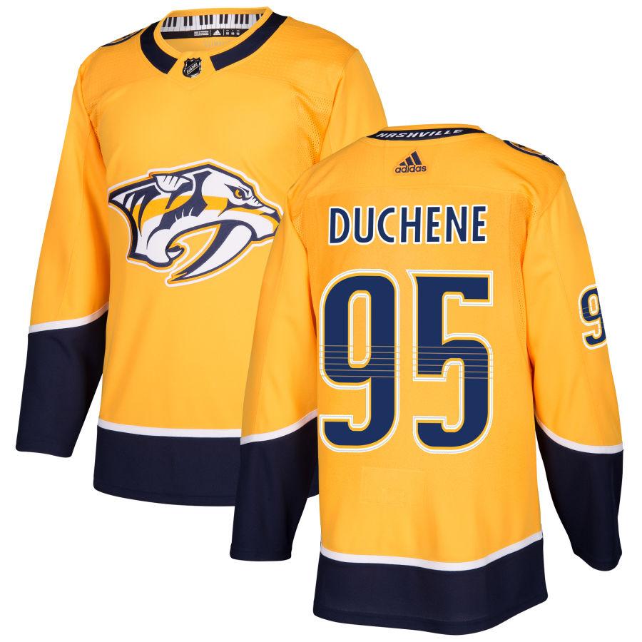Predators 95 Matt Duchene Yellow Adidas Jersey