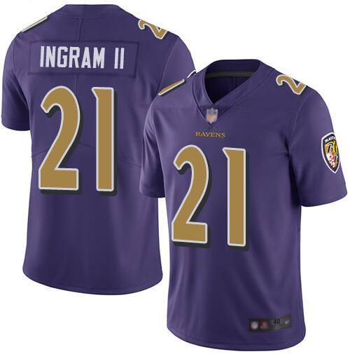 Nike Ravens 21 Mark Ingram II Purple Youth Color Rush Limited Jersey