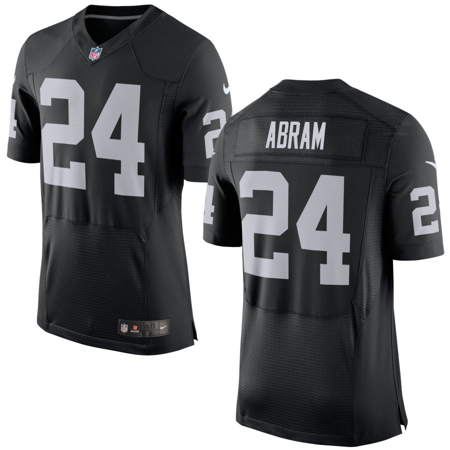 Nike Raiders 24 Johnathan Abram Black Elite Jersey