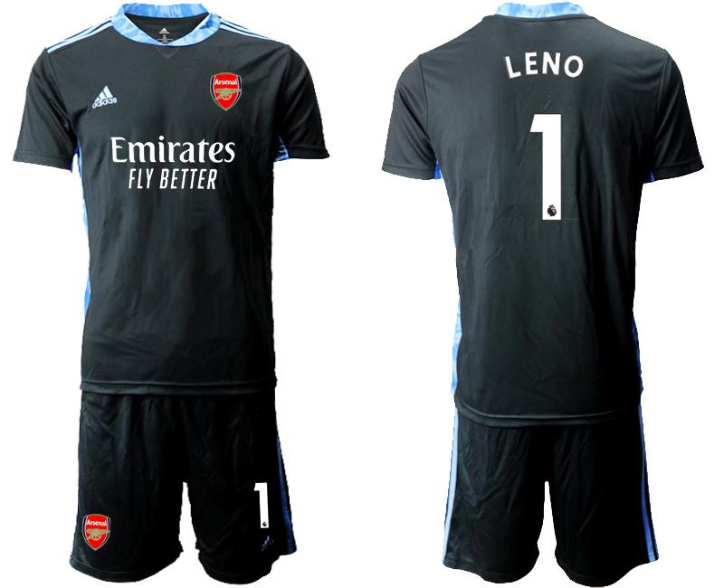 2020-21 Arsenal 1 LENO Black Goalkeeper Soccer Jersey