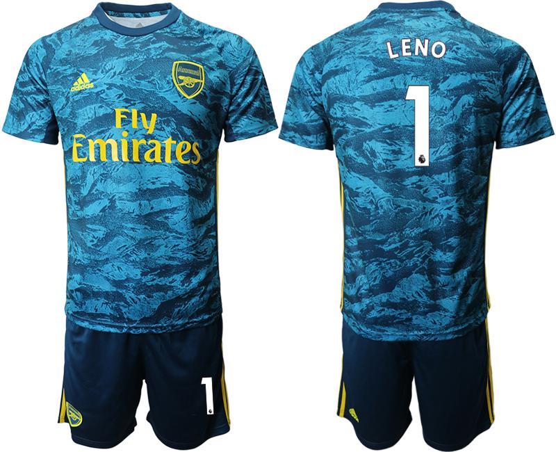 2020-21 Arsenal 1 LENO Blue Goalkeeper Soccer Jersey