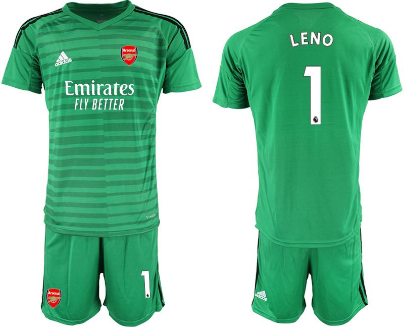 2020-21 Arsenal 1 LENO Green Goalkeeper Soccer Jersey