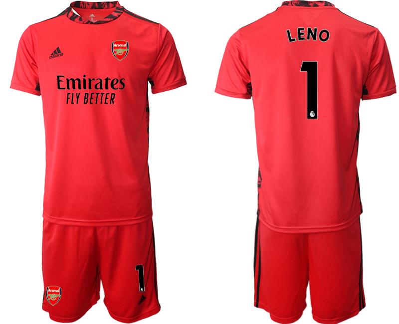 2020-21 Arsenal 1 LENO Red Black Goalkeeper Soccer Jersey