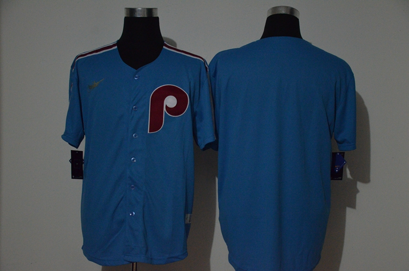 Phillies Blank Blue Nike Cooperstown Collection Jersey
