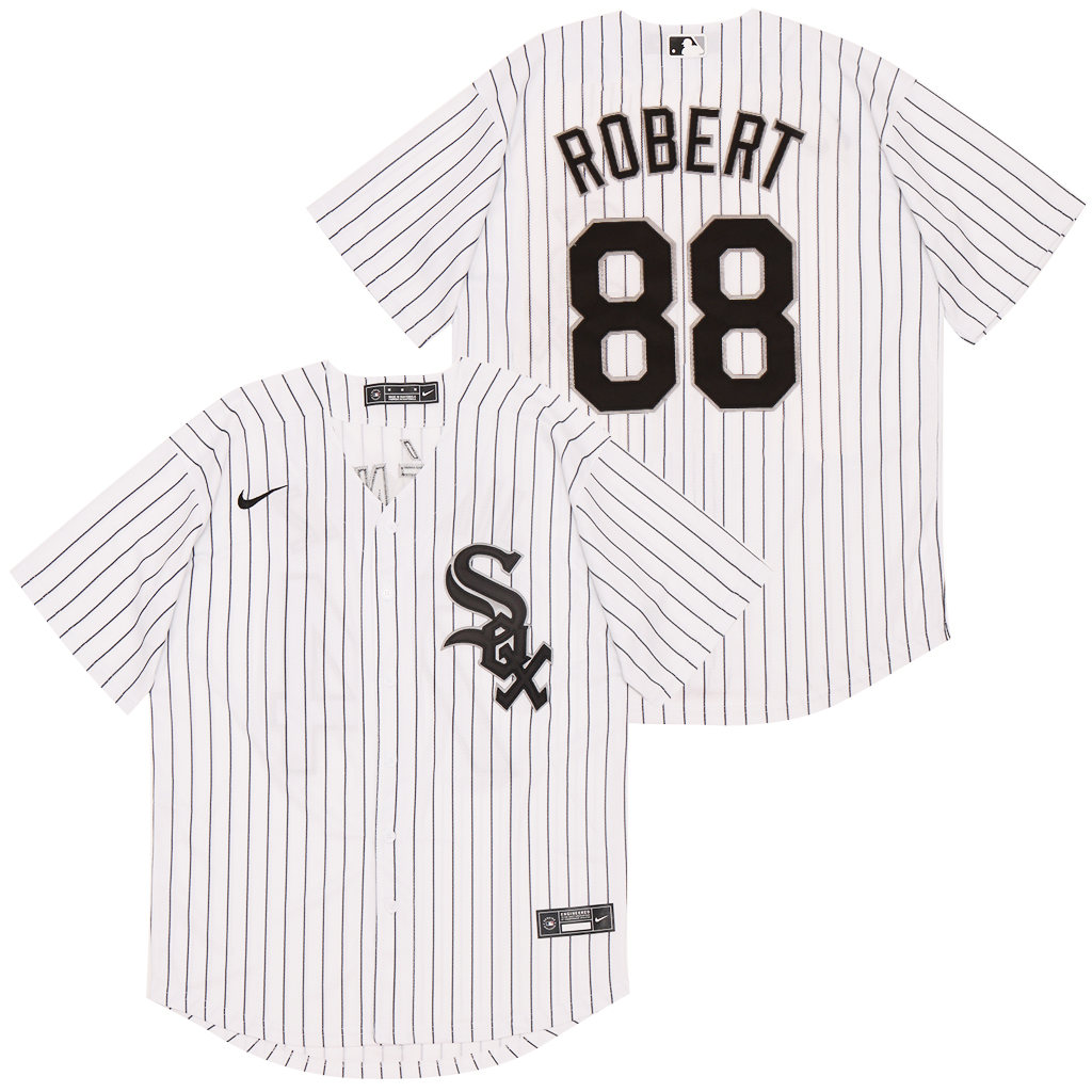 White Sox 88 Luis Robert White 2020 Nike Cool Base Jersey
