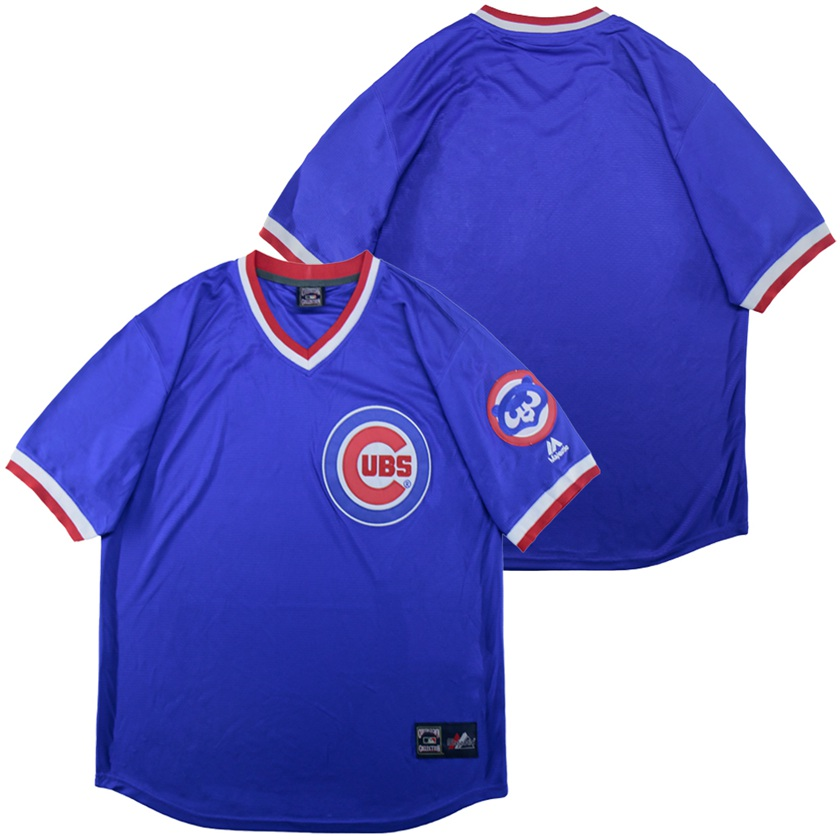 Cubs Blank Blue Throwback Jersey