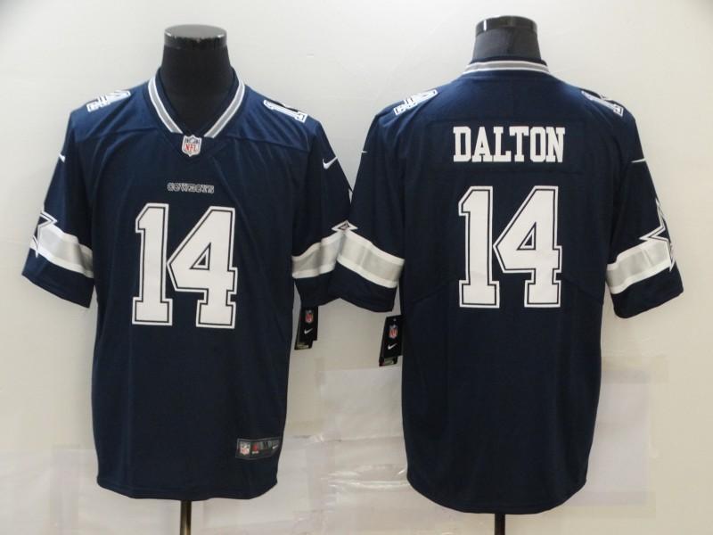 Nike Cowboys 14 Andy Dalton Navy Vapor Untouchable Limited Jersey