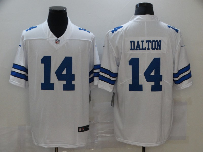 Nike Cowboys 14 Andy Dalton White Vapor Untouchable Limited Jersey