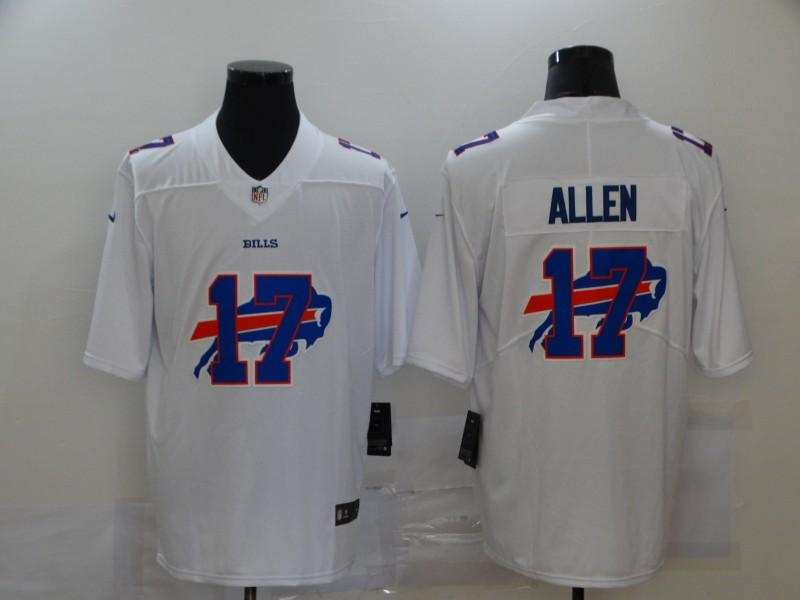 Nike Bills 17 Josh Allen White Shadow Logo Limited Jersey