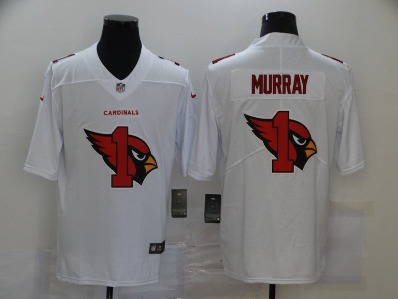 Nike Cardinals 1 Kyler Murray White Shadow Logo Limited Jersey