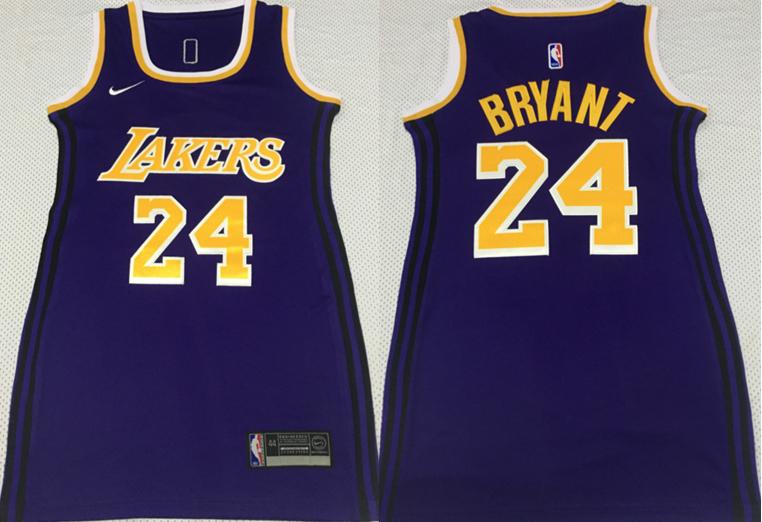 Lakers 24 Kobe Bryant Purple Women Nike Swingman Jersey