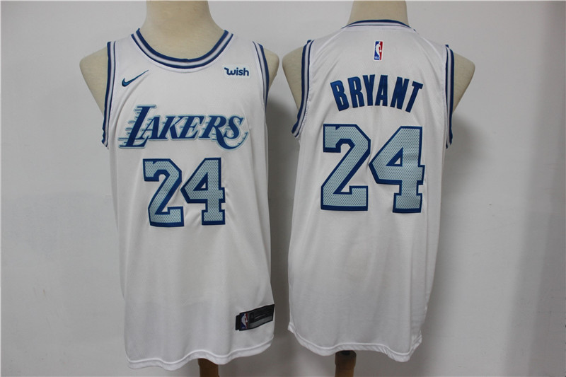 Lakers 24 Kobe Bryant White 2020-21 City Edition Nike Swingman Jersey