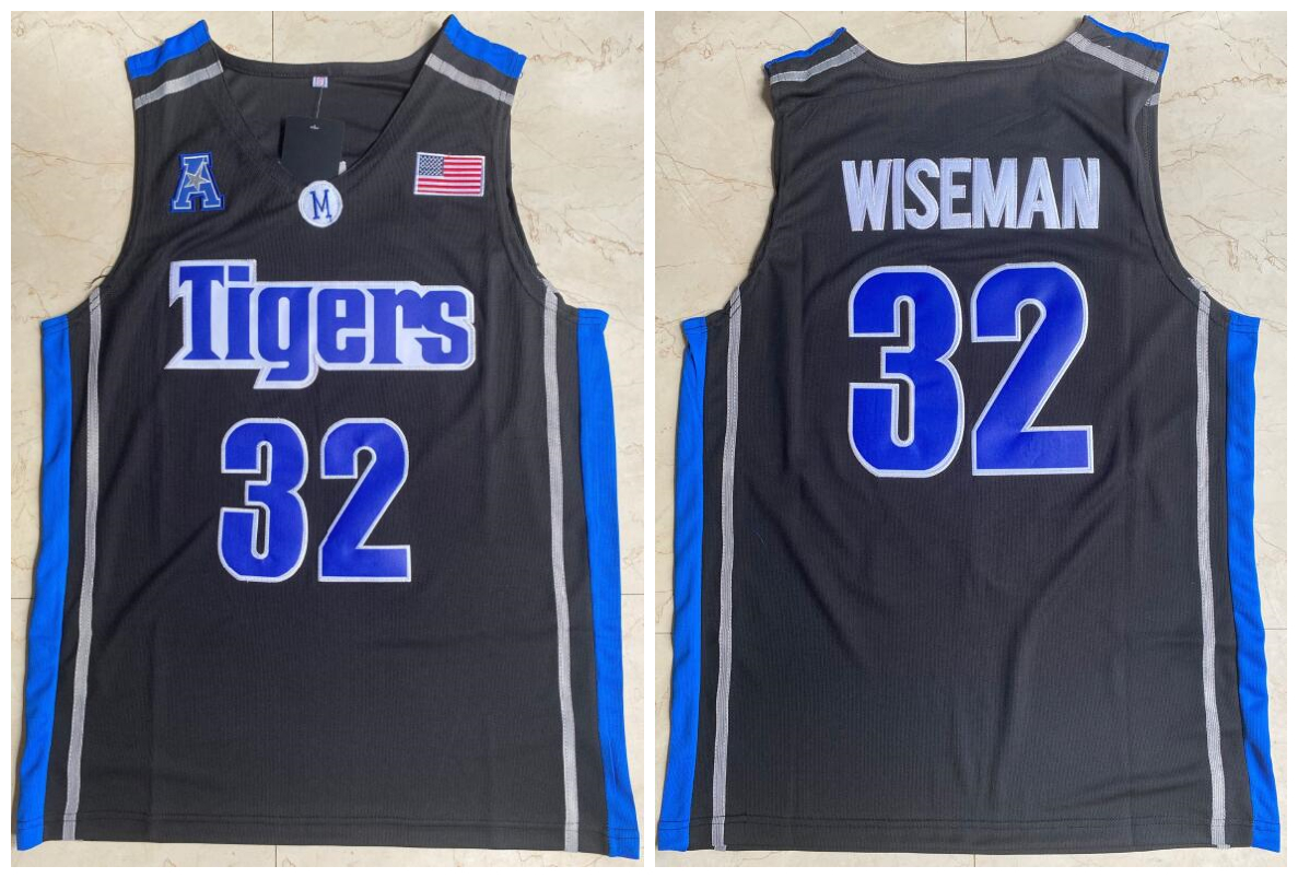 Memphis Tigers 32 James Wiseman Black College Basketball Jersey