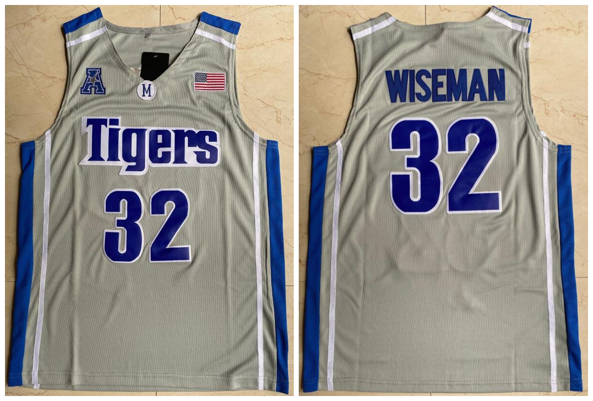 Memphis Tigers 32 James Wiseman Gray College Basketball Jersey