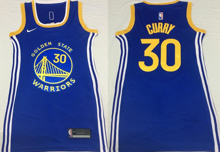 Warriors 30 Stephen Curry Blue Women Nike Swingman Jersey