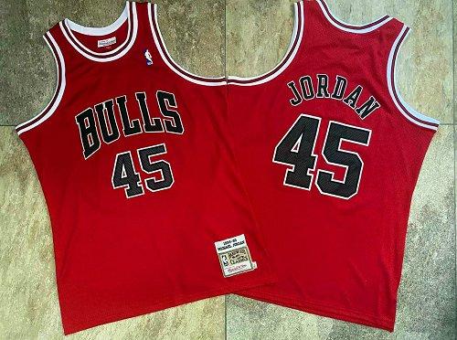 Bulls 45 Michael Jordan Red 1994-95 Hardwood Classics Jersey