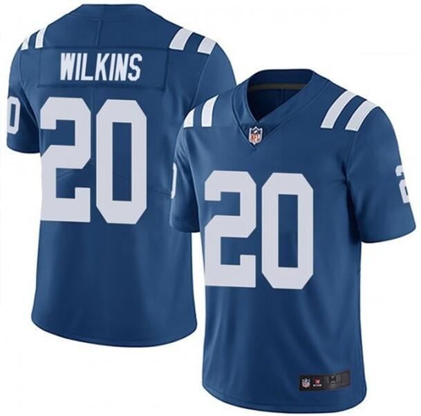 Nike Colts 20 Jordan Wilkins Royal Vapor Untouchable Limited Jersey