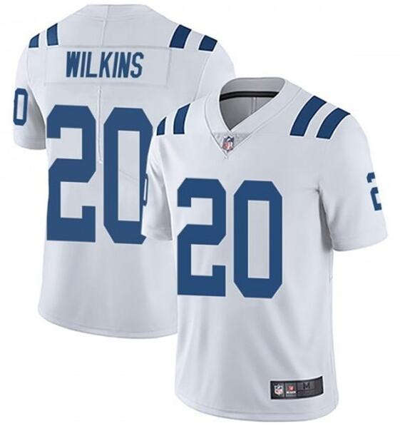 Nike Colts 20 Jordan Wilkins White Vapor Untouchable Limited Jersey