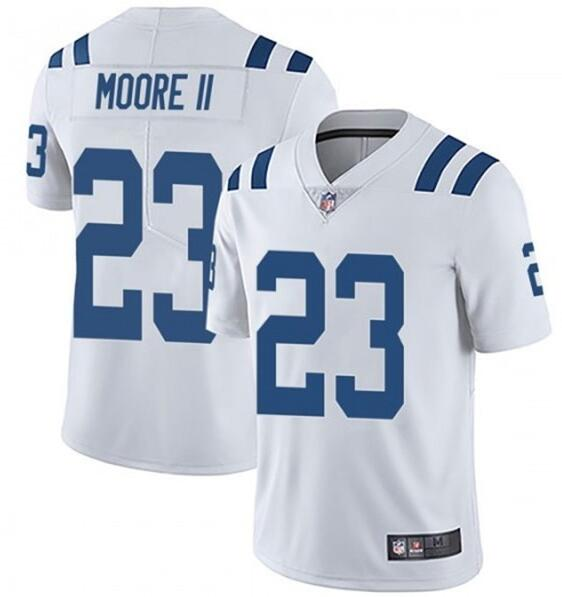 Nike Colts 23 Kenny Moore II White Vapor Untouchable Limited Jersey