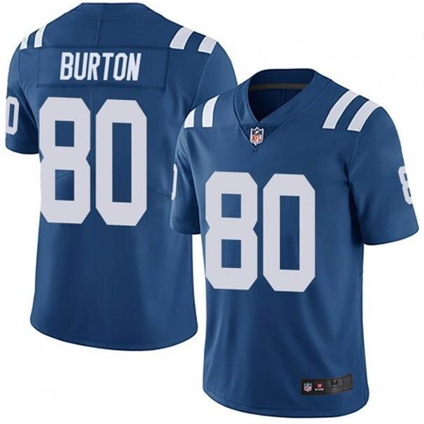 Nike Colts 80 Trey Burton Royal Vapor Untouchable Limited Jersey