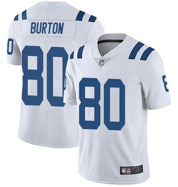 Nike Colts 80 Trey Burton White Vapor Untouchable Limited Jersey