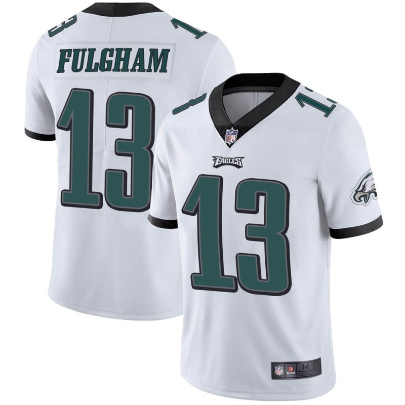 Nike Eagles 13 Travis Fulgham White Vapor Untouchable Limited Jersey