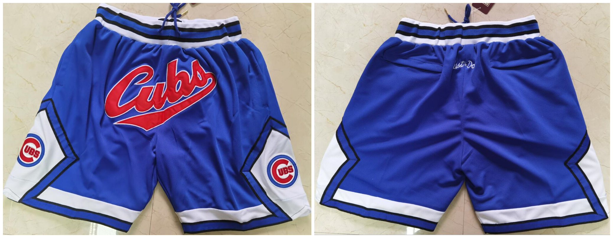 Men's Chicago Cubs Team Logo Royal Just Don Pocket Baseball Shorts
