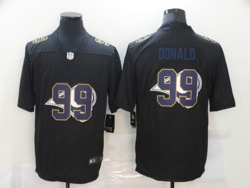 Nike Rams 99 Aaron Donald Black Shadow Logo Limited Jersey