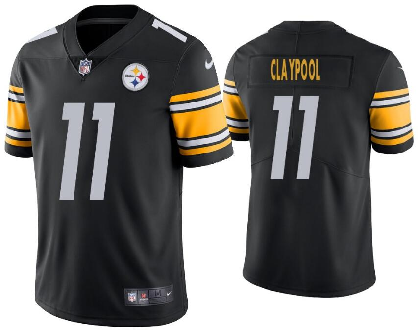 Nike Steelers 11 Chase Claypool Black Vapor Untouchable Limited Jersey