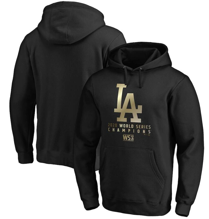 Men's Los Angeles Dodgers Fanatics Branded Black 2020 World Series Champions Parade Pullover Hoodie