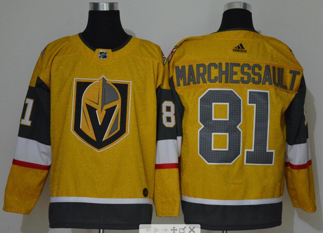 Vegas Golden Knights 81 Jonathan Marchessault Gold 2020-21 Adidas Jersey