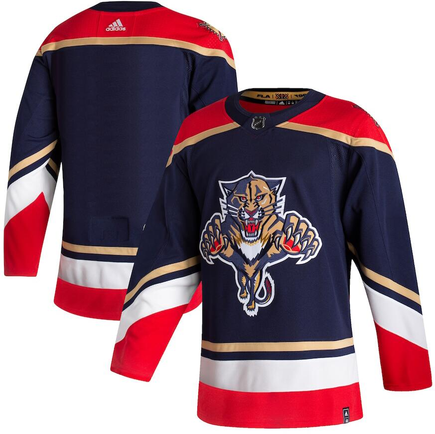 Panthers Blank Navy 2020-21 Reverse Retro Adidas Jersey