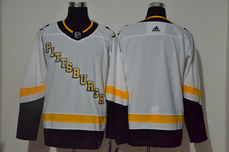 Penguins Blank White 2020-21 Reverse Retro Adidas Jersey